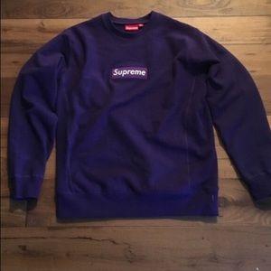 Supreme purple crewneck XL 2004